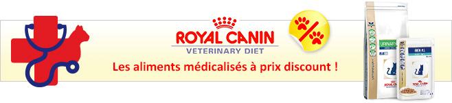 Croquettes et pâtée médicalisées Royal Canin Veterinary Diet pour chat