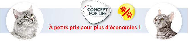 Croquettes Concept for Life pour chat