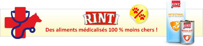 Croquettes et pâtée médicalisés Rinti Canine pour chien