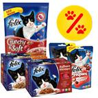 Lots mixtes de nourriture pour chat en promo
