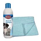 Shampooings et serviettes pour chat